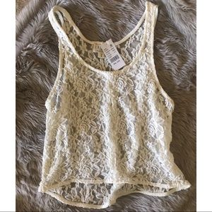 NWT LA Hearts Lace Crop Top